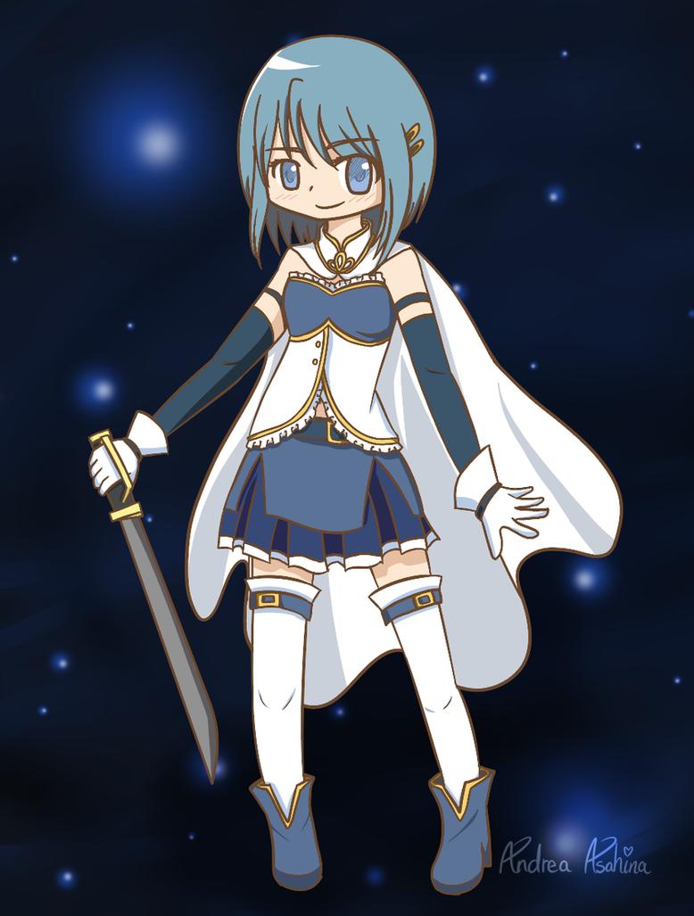 The Blue Knight - Sayaka Miki by iZelda27