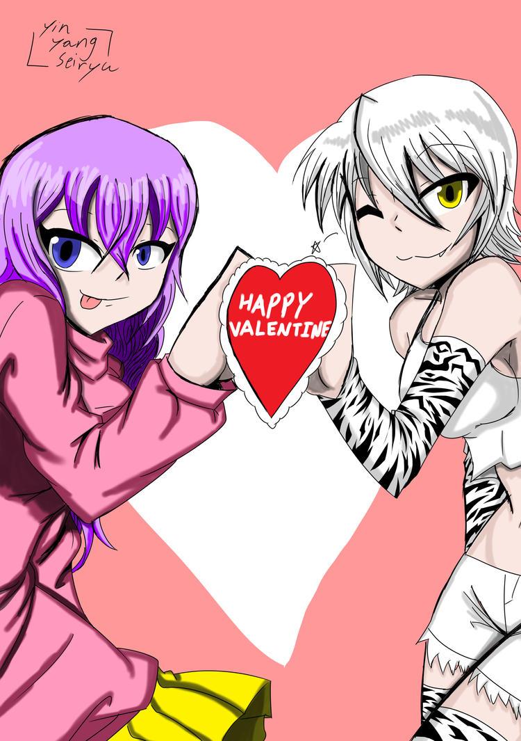 Trina and Byakko valentine by YinYangSeiryu
