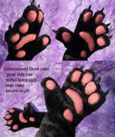 Skunk Paws by Beetlecat