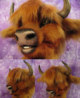Highland Bull Fursuit Head by Beetlecat