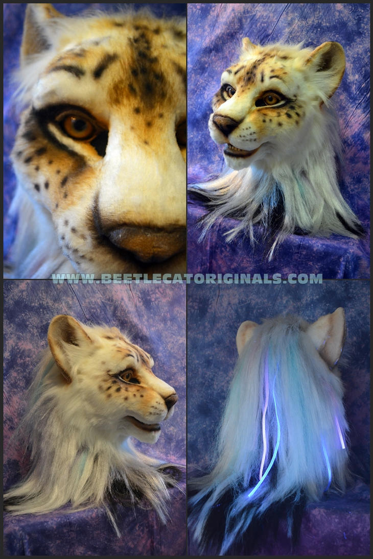 UV reactive Liger Head by Beetlecat