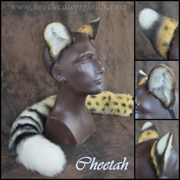 Cheetah Ear and Tail Set by Beetlecat