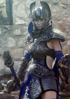 Blue knight by MadamGoth