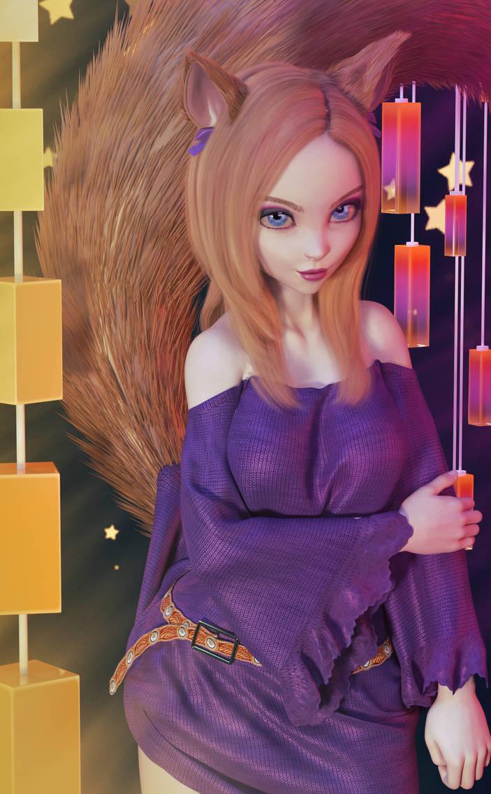 Foxy Girl by MadamGoth