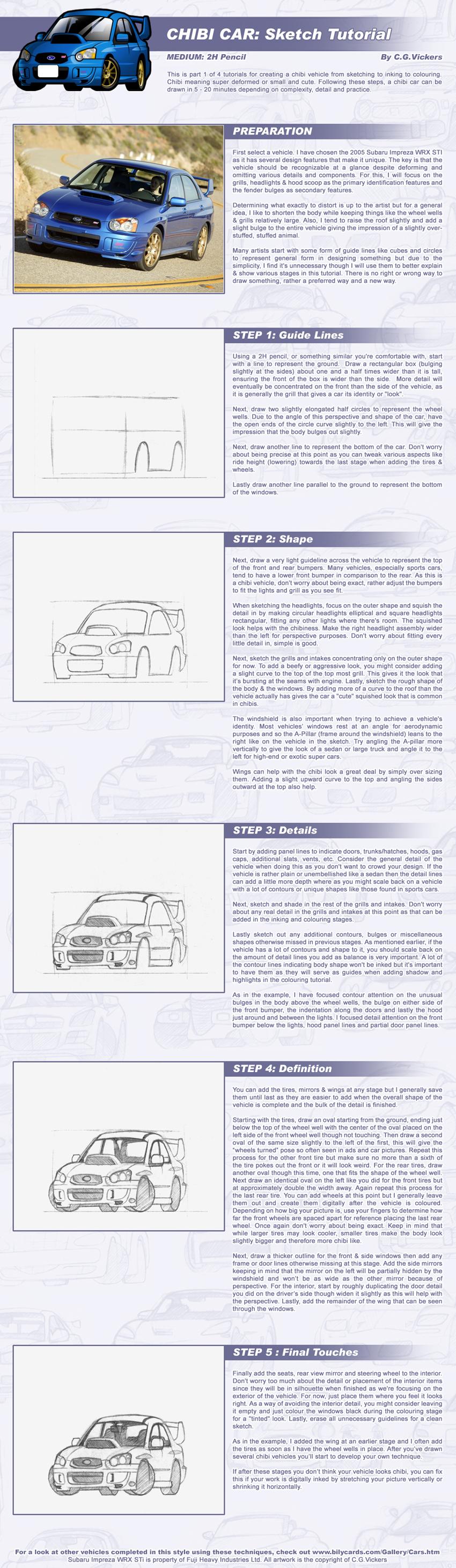 Chibi Car - Sketch Tutorial by CGVickers on DeviantArt