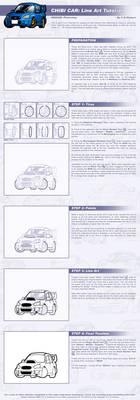 Chibi Car - Line Art Tutorial