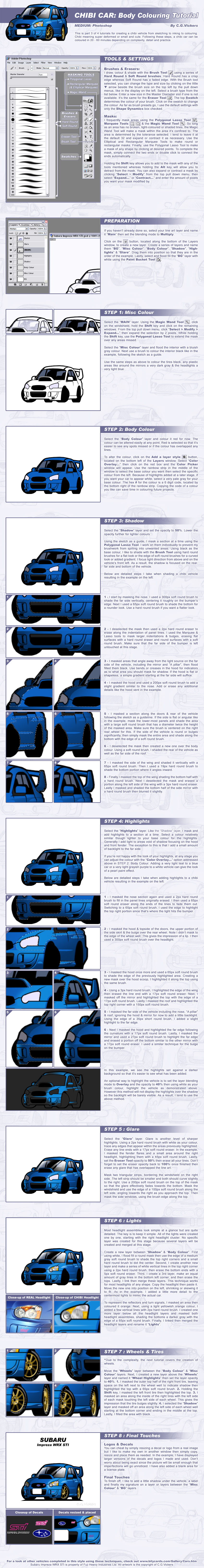 Chibi Car - Colouring Tutorial by CGVickers