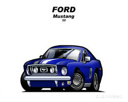 Chibi 68 Ford Mustang by CGVickers