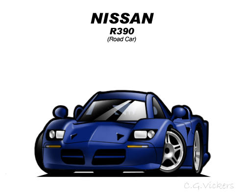Chibi Nissan R390 by CGVickers