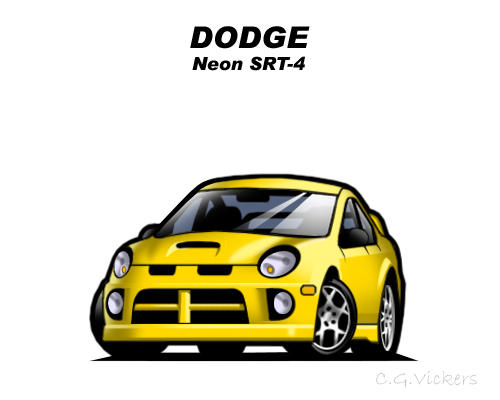 Chibi Dodge Neon SRT-4 by CGVickers