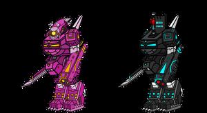 Robot Mecha's Comparsion by xxHeavyswagxx