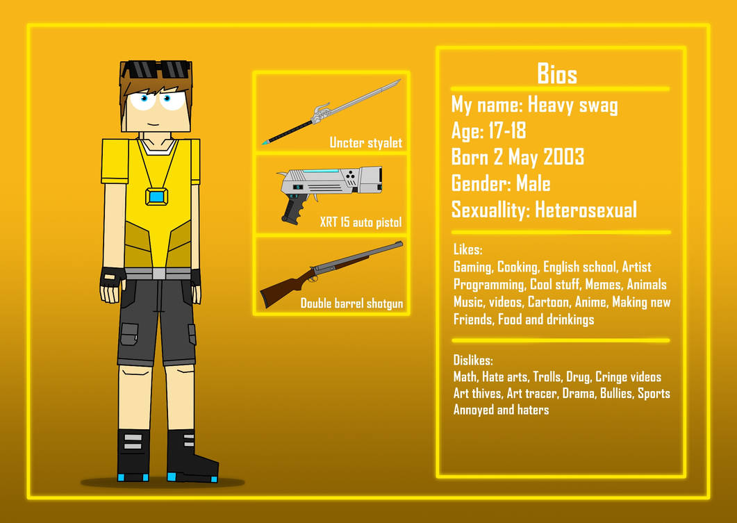Heavy swag (Me) Reference sheet Remake 2021