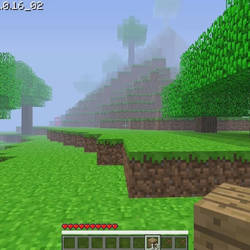 Red from among us invade in Minecraft