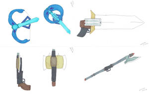 BOGS Weapons 1st draft by Mallowkey