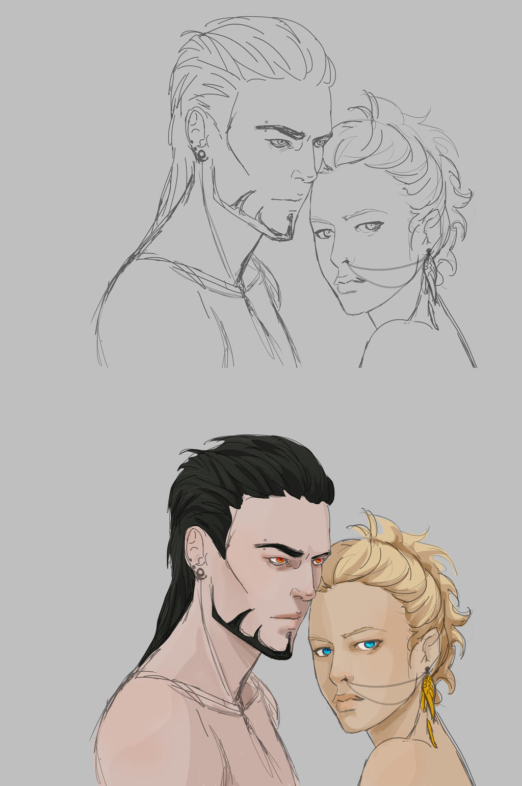 WIP: Hades n Persephone by Frizz-of-Fury