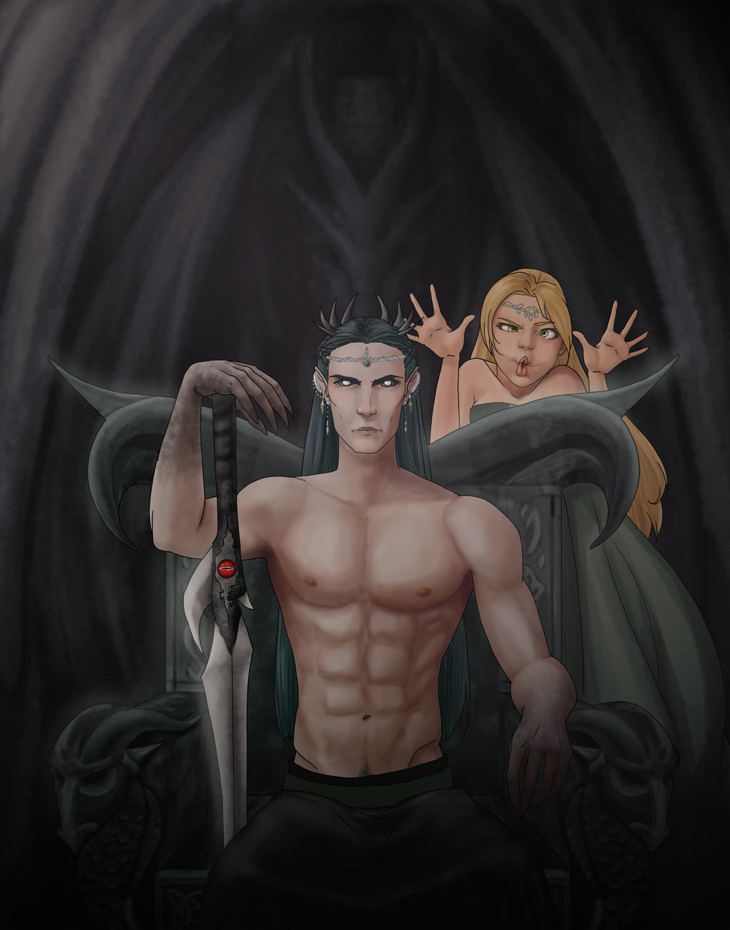 Dark Lord. . .and Consort by Frizz-of-Fury