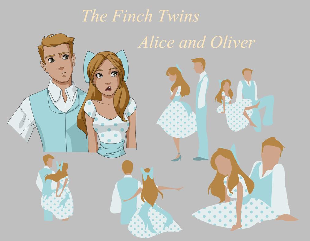 Finch Twins by Frizz-of-Fury