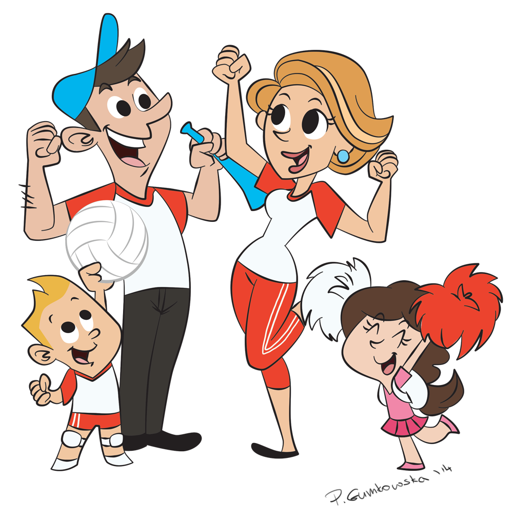 Cheering Fans Cartoon : Cheering fans clipart imgkid the image kid has it