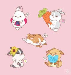 Bunny Set 2 by Hi-Gummy
