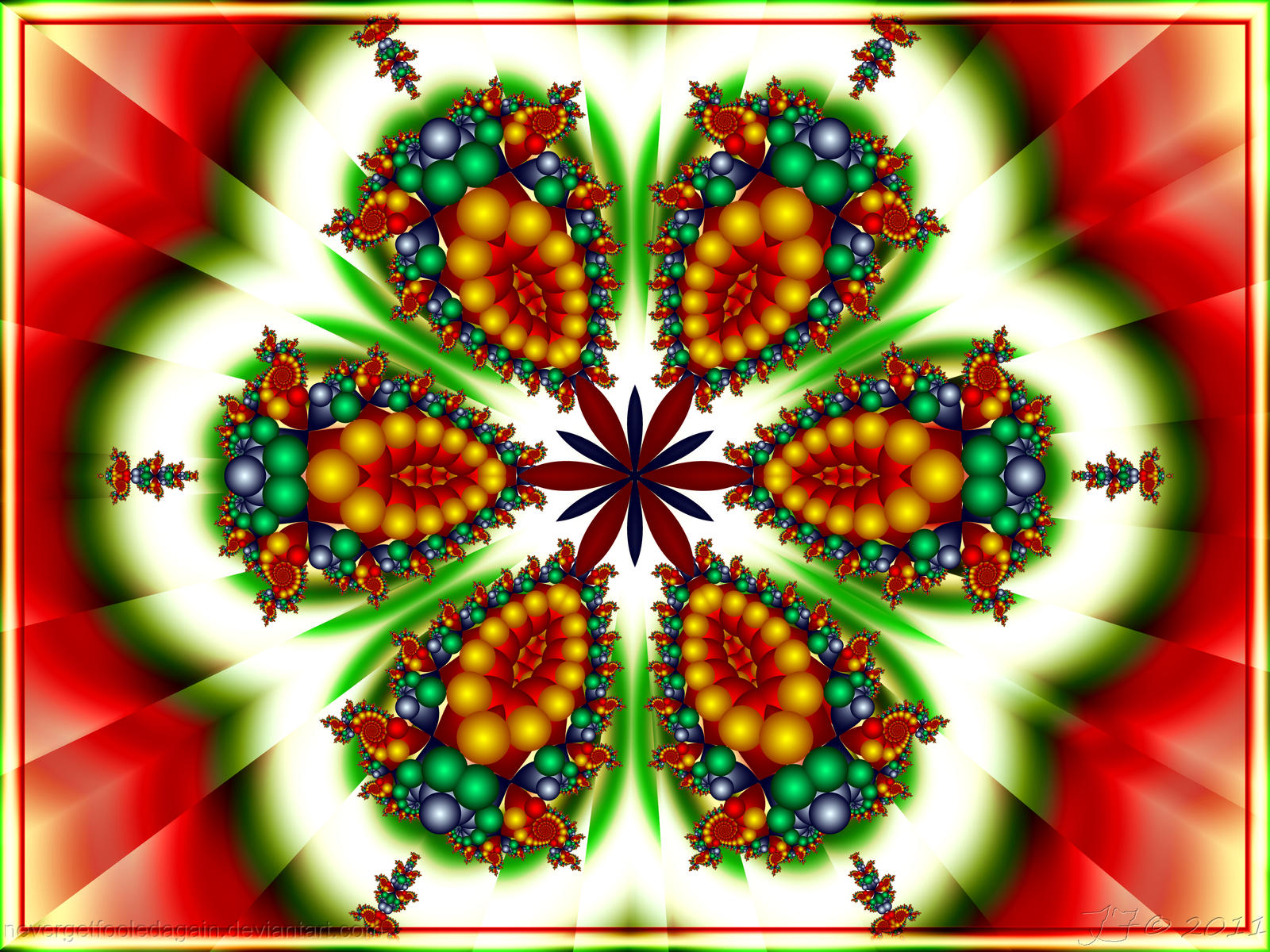 Merry Christmas Decorative Lettering Vector - Download ...  Merry Christmas Fractal Art