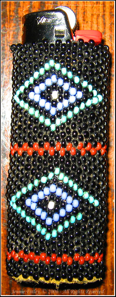 Beaded Lighter Case by nevergetfooledagain