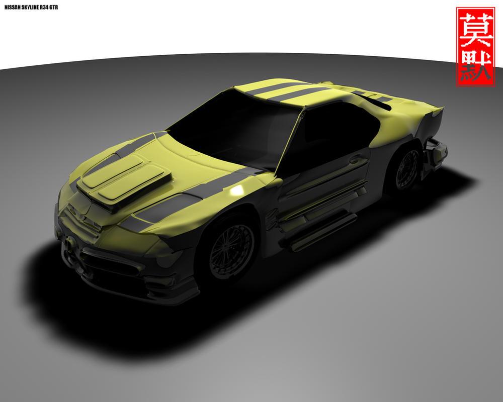 Nissan Skyline R34 GTR II by x3x