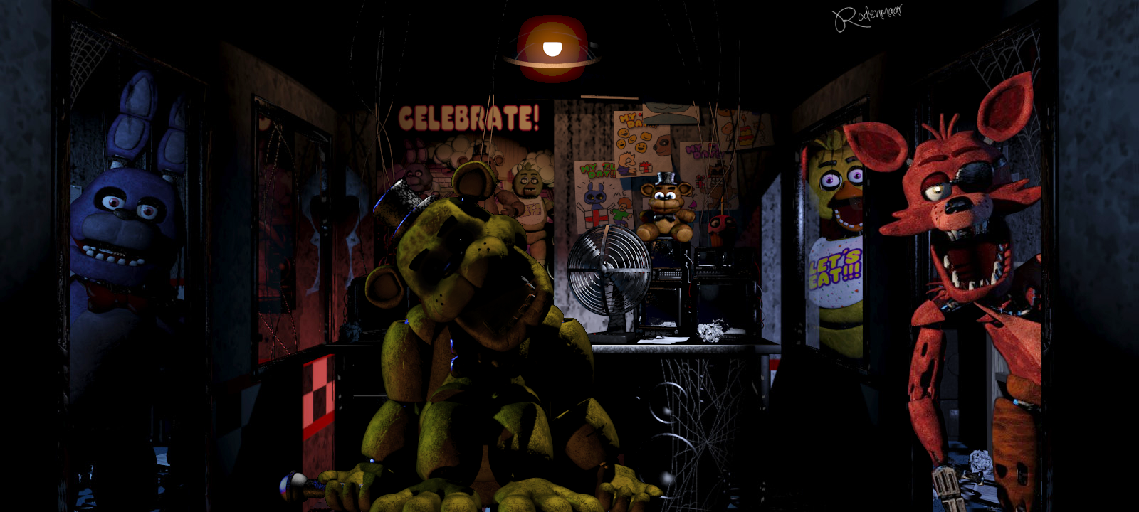 Images of Fnaf 1 All Characters - industrious info