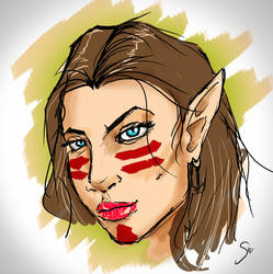 Elf girl doodle by SidMaster