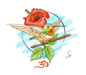 Tattoo design (Ommingbird) by SidMaster