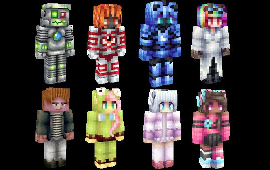 Minecraft skins (download links in description)