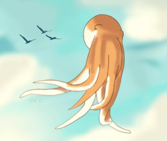 Flying Octopus by samwdean