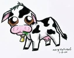Chibi Cow by RufyShinra