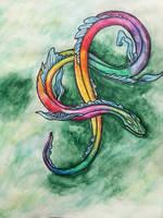 Rainbow  Dragon by Karren-san