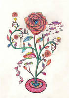 One Plant Garden - Mosaic Rose by Karren-san
