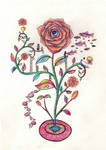 One Plant Garden - Mosaic Rose