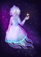 Moon Jellyfish in Space by Karren-san