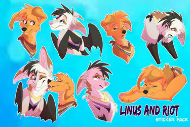 Linus and Riot Sticker Pack by Streetfair