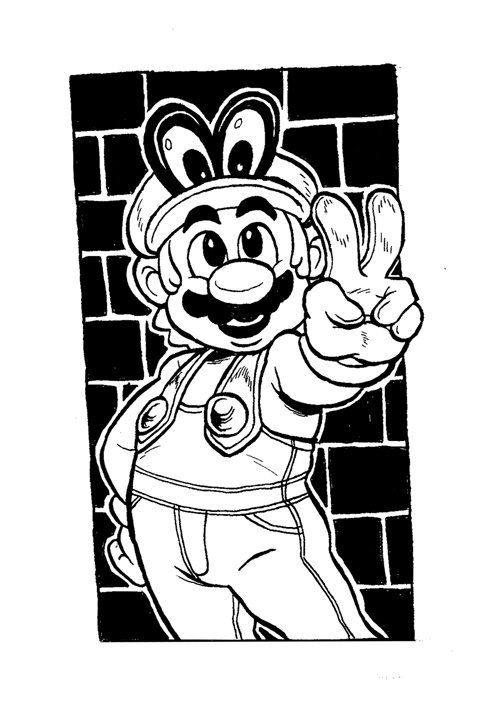 Inktober 2017 2 Super Mario And Cappy By Shentsumi On Deviantart