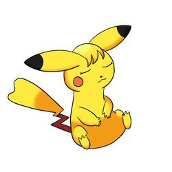 Sleeping Pikachu by music229luv
