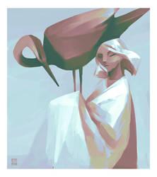 Heron Girl by Daliot