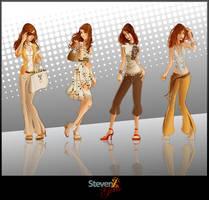::vector girls:: by StevenZ