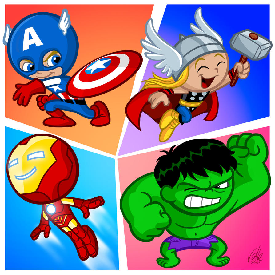 Super 4 Cartoon Characters : The little avengers by fabvalle on deviantart