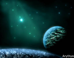 Somewhere in Space by Arythya