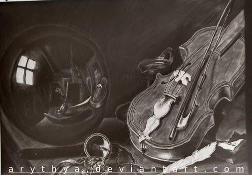 [Inverted]Still Life with Violin and Glass Ball
