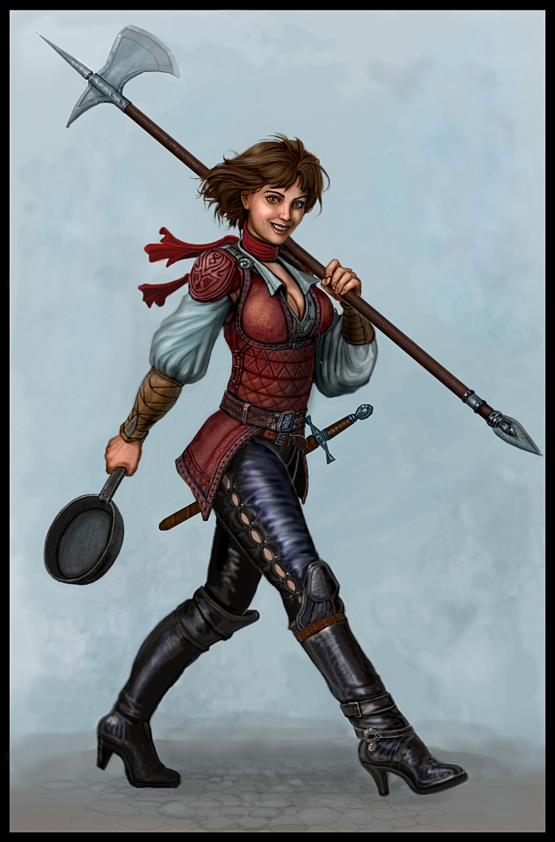 Halberd For Breakfast by SirTiefling