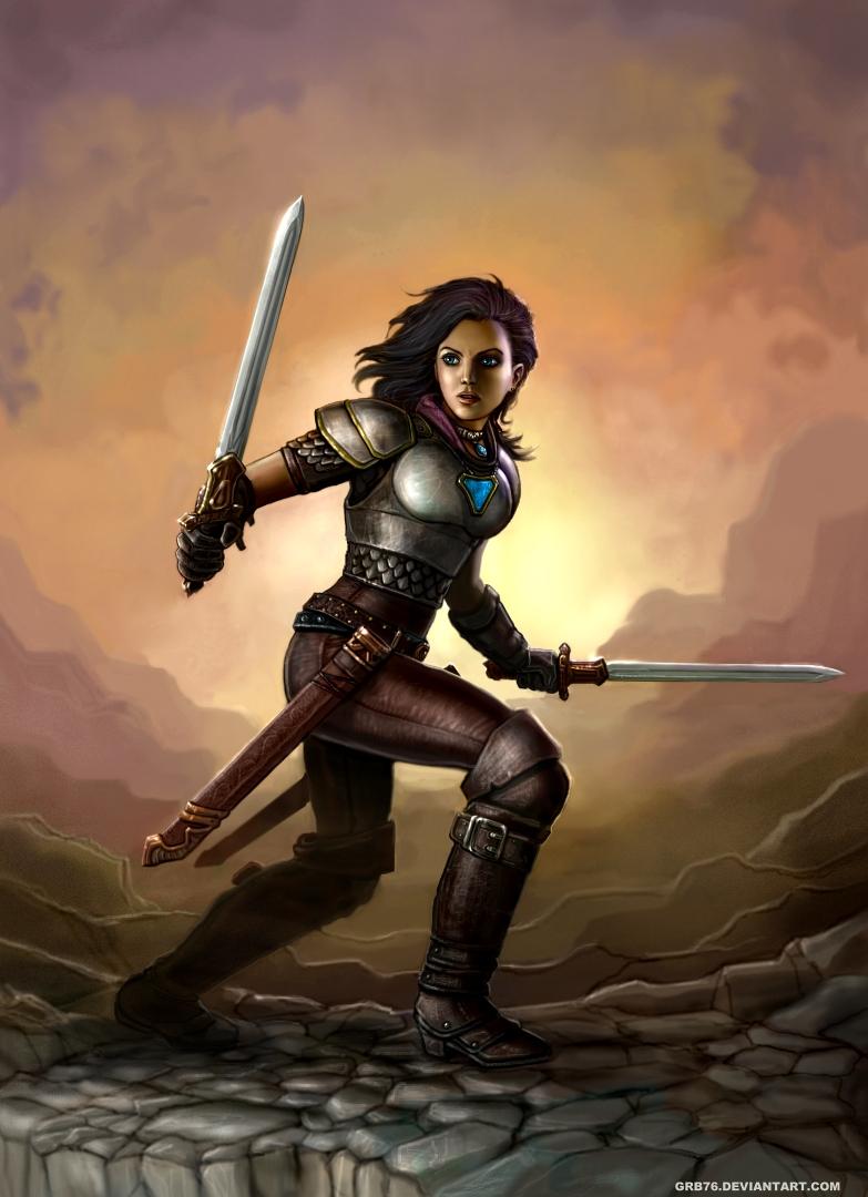 Branwen the Deathdancer by SirTiefling