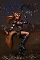 Inebriated Kitsune by SirTiefling