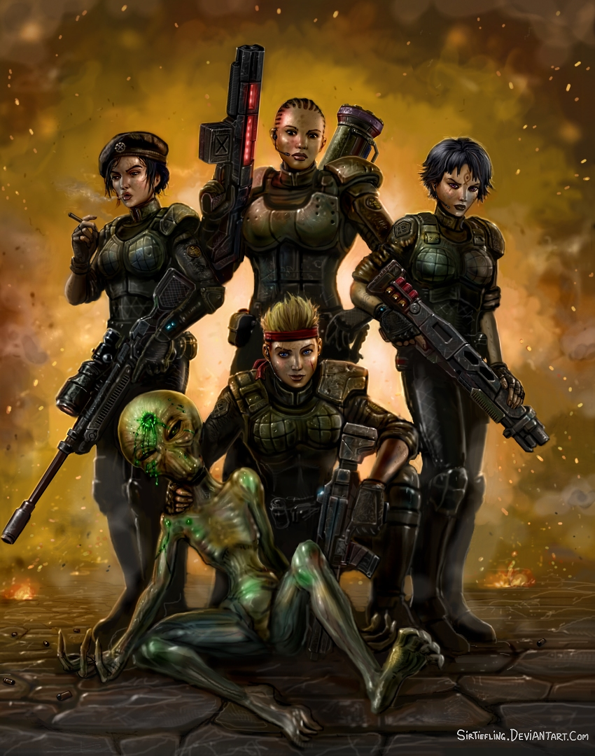 XCOM: The Pink Squad by SirTiefling