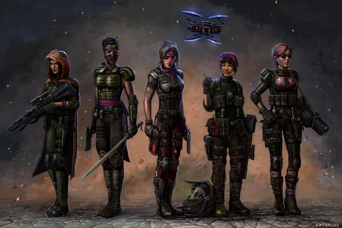 XCOM - The Pink Squad 2035AD by SirTiefling