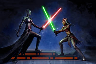 Disney Duel - Asajj vs Ahsoka by SirTiefling